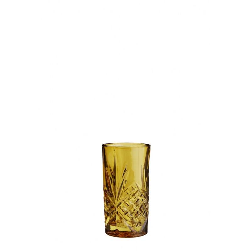 Drinking glass w/ cutting