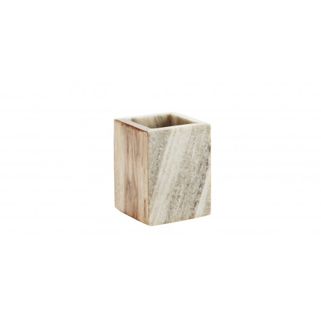 Marble cup w/ wood