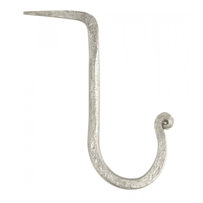 Hand forged hook w/ nail