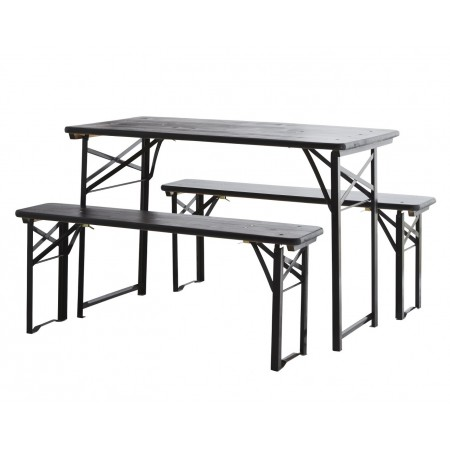 Foldable table set