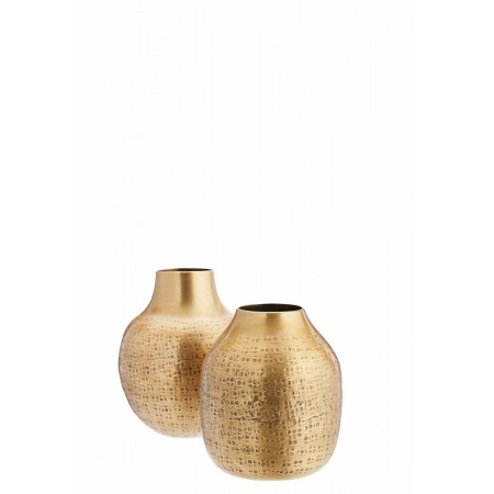 Carved aluminiums vases
