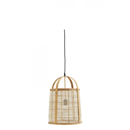 Bamboo ceiling lamp w/ linen