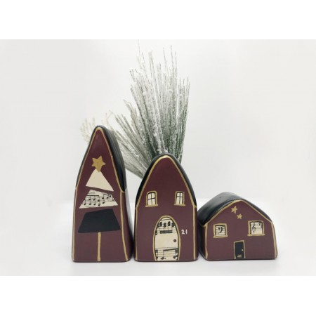 Handmade Music Small Houses set/3