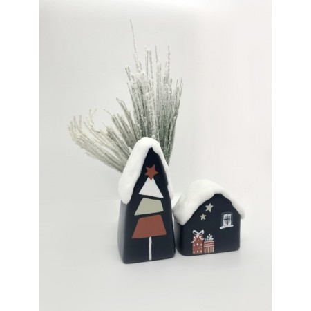 Handmade Snowy Small Houses set/2