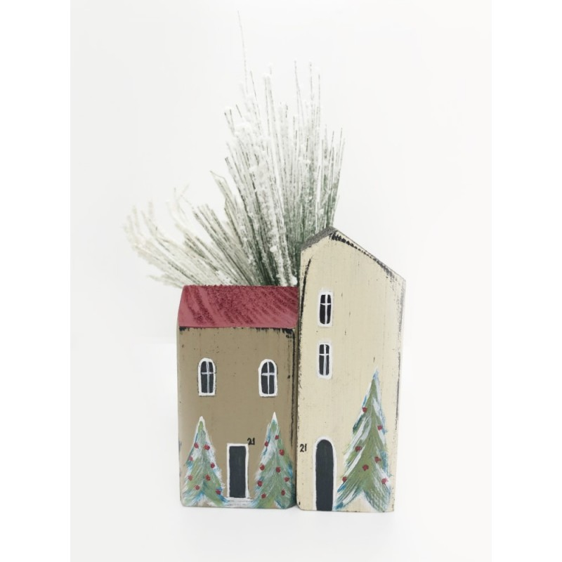 Handmade x-mas  Small Houses set/2