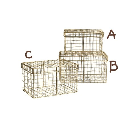 Rectangular wire basket w/ lid small