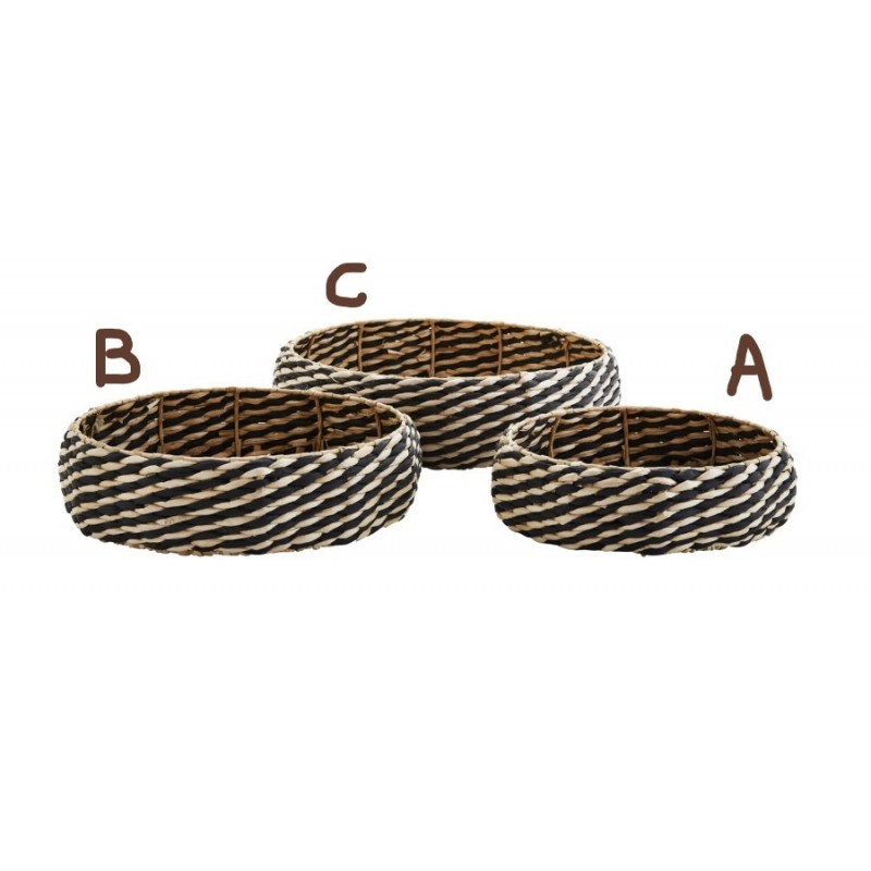 Round wicker tray medium