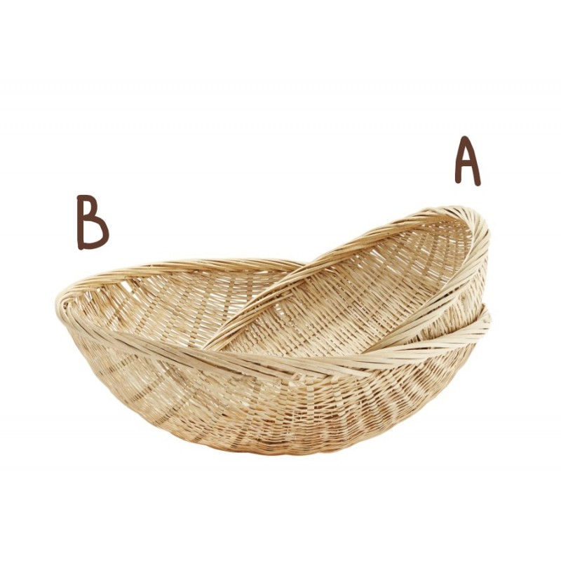Round bamboo basket large