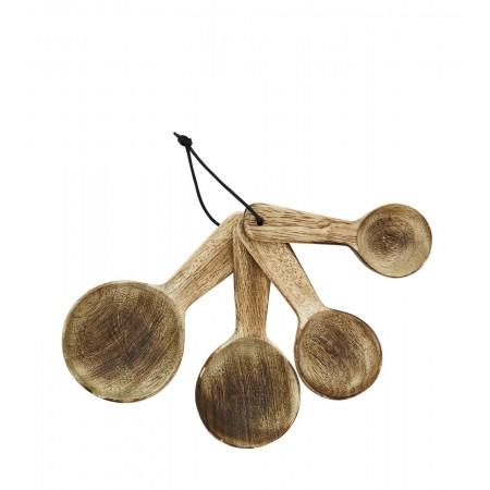 Κουτάλες ξύλινες set/4