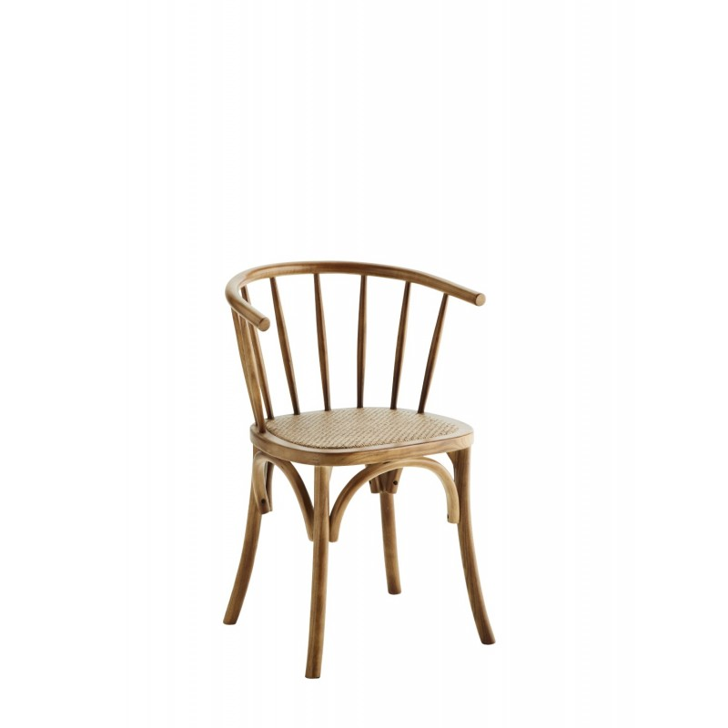Wooden chair w/ rattan